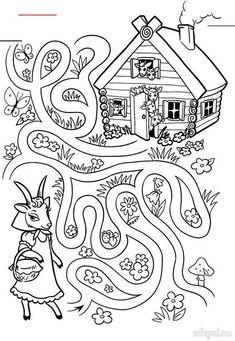 Creative Activities For Kids, Preschool Learning Activities, Indoor Activities For Kids, Preschool Activities, Teaching Kids, Kids Learning, Mig E Meg, Fairy Tale Crafts, Mazes For Kids