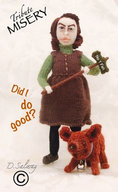 #Misery #StephenKing #KathyBates #Knitteddoll #celeb #icon #denise #doll #dolls #knitting