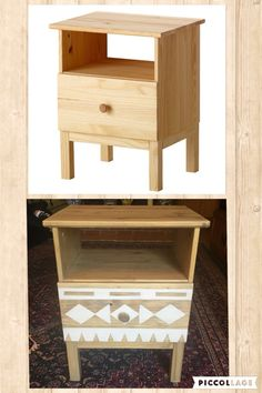 IKEA Tarva Nightstand DIY  Materials: Minwax Weathered Oak Stain, Minwax…