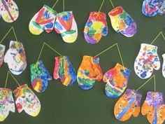 "Design your mitten, that will not be lost in the snow--inspired by Jan Brett's ""The Mitten"""