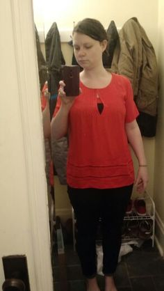 Top from stitch fix. Not flattering, sleeve length is unfortunate.