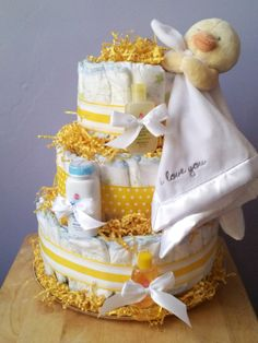 OhSoPrecious Events Yellow  White Duckie Pamper Cake