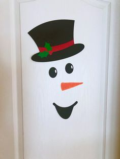 Your place to buy and sell all things handmade - Snowman Door Decoration Christmas Classroom Door Decoration Christmas Classroom Door, Office Christmas, Simple Christmas, Christmas Diy, Christmas Ornaments, Christmas Projects, Christmas Door Decorating Contest, Decoration Christmas, Christmas Decorations For The Home