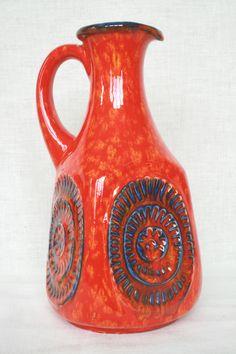 Bay vase or jug, moulded mark: 31-30. WGP West German Pottery.