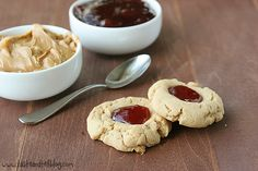Peanut Butter and Jelly Thumbprint Cookies  (5/18/2013)