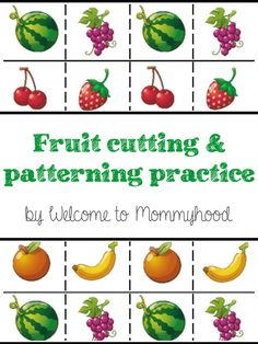 Free summer themed cutting and patterning practice for toddlers and preschoolers… kristin knight · preschool healthy eating Nutrition Tracker App, Nutrition Tips, Health And Nutrition, Nutrition Month, Nutrition Store, Free Fruit, Fruit And Veg, Fruits And Veggies, Vegetables