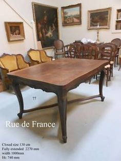 NICE ANTIQUE FRENCH SLAB PARQUETRY PROVINCIAL DINING TABLE