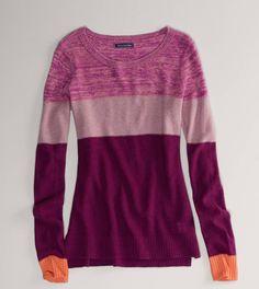 Colorblock popover sweater