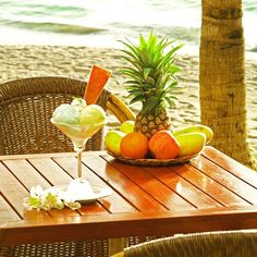 Delicious tropical delights at Boracay Mandarin Island Hotel.