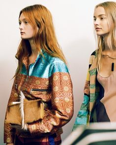Sophie Touchet (Elite), Maartje Verhoef (Women) backstage at Dries Van Noten SS15