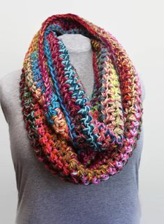 This is really a Why Fit In When You Were Born to Stand Out scarf A big splash of colors in this oversized Infinity Cowl Scarf Along with ALL the