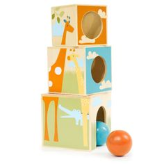 Giraffe Safari Nest and Play Blocks