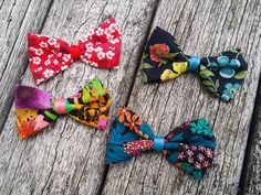 Spring BowTie  Bow Lapel Adornment  Floral Bow Tie by MayCheang