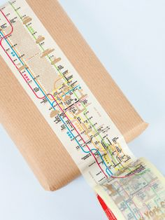 Manhattan subway map Wide tape, with the Manhattan subway map. This tape is more expensive than some of our others, but it is 95m x 6cm. The Manhattan map is repeated 55 times. This tape is strong and robust and perfect for external packaging. £12.00 GBP