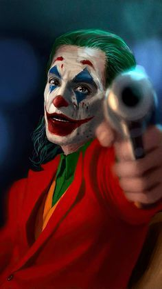 Joker with Gun iPhone Wallpaper - iPhone Wallpapers