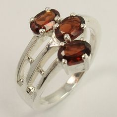 Amazing Ring Size US 6 Natural GARNET January Birth Gemstone 925 Sterling Silver #Unbranded Birth Gemstone, Citrine Gemstone, Turquoise Gemstone, Trendy Fashion Jewelry, Fashion Rings, Silver Jewellery Indian, Rutilated Quartz, Sterling Silver Jewelry, Garnet