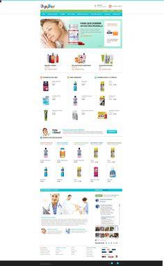 Demo de tienda online de farmacia, diseñado por ShopyShops. #ecommerce http://shopyshops.com/demos/