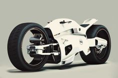 Image via  It's like the reverse of a common motorcycle... fat tire up front…