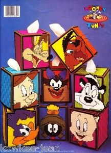 Free Plastic Canvas Tissue Box Patterns | Looney Tunes Character Tissue BOX Covers Plastic Canvas Patterns ...