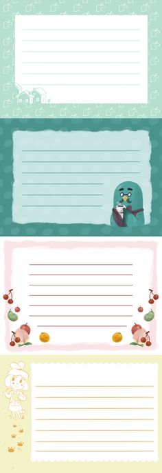 Animal Crossing themed Stationery.