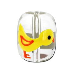 Hand Painted Chick Bead