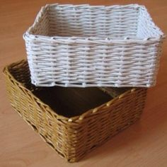 How to Construct a Lovely Newspaper Basket via @Guidecentral - Visit www.guidecentr.al for more #DIY #tutorials