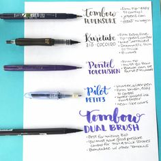 intro to hand lettering & brush pens by Jessica from Pretty Prints & Paper :) Lettering Brush, Hand Lettering Fonts, Creative Lettering, Lettering Tutorial, Lettering Styles, Monogram Fonts, Script Fonts, Monogram Letters, Chalk Typography