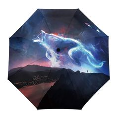 Cute Jellyfish Automatic Windproof Travel Umbrella Compact Canopy With Black Glue And UV-resistant Coating