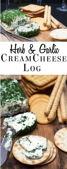 This easy recipe for Garlic & Herb Cream Cheese Log is savory mix of garlic, cream cheese and fresh parsley that's utterly addictive.  This tasty spread is fantastic appetizer on crackers, but great in sandwiches or spread on a bagel.