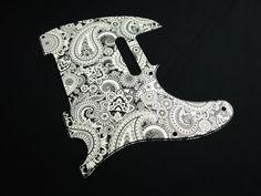 Graphic Pickguard for Fender Tele Guitar Paisley B w Free Shipping   eBay