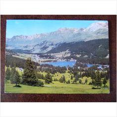 Switzerland Valbella and Lake Heidsee 1987 colour postcard on eBid United Kingdom