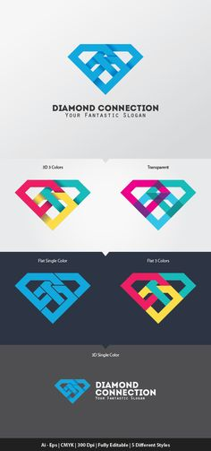 Buy Diamond Connection Logo Template by Ijajil on GraphicRiver. Diamond Connection Logo Template you can use for your trademark, branding identity or commercial brand. Business Logo, Business Card Design, Gem Logo, Diamond Logo, Diamond Icon, Diamond Design, Neon Box, Branding Design, Logo Design