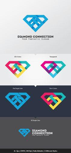 Diamond Connection Logo Template by Ijajil KreasiMalam, via Behance