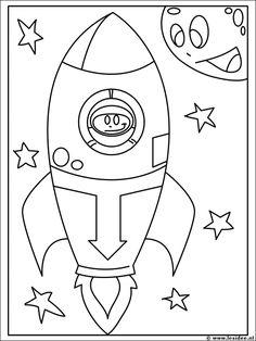 Kleurplaten Kuifje Raket.70 Beste Afbeeldingen Van Ruimte Robot Knutselen Outer Space