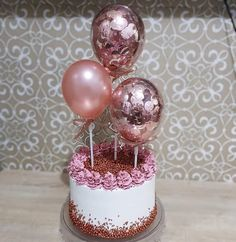 27th Birthday Cake, 1st Birthday Party For Girls, Birthday Goals, Cute Birthday Cakes, Beautiful Birthday Cakes, Birthday Decorations, Beautiful Cakes, Bakery Shop Design, Simple Cake Designs