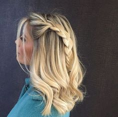 Easy Hairstyles for Long Hair in 2019 Hairstyles for medium length hair Haircuts For Fine Hair, Easy Hairstyles For Long Hair, Braids For Long Hair, Hairstyles Haircuts, School Hairstyles, Hairstyle Ideas, Wedding Hairstyles, Long Thin Hair, Long Hair Cuts