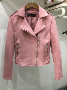 New Fashion Women suede motorcycle jacket Slim brown full lined soft faux Leather female coat veste femme cuir epaulet zipper Girls Fashion Clothes, Winter Fashion Outfits, Clothes For Women, Crop Top Outfits, Cute Casual Outfits, Pretty Outfits, Jugend Mode Outfits, Winter Mode Outfits, Winter Jackets Women