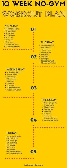 10 week no gym workout plan | Posted By: NewHowToLoseBellyFat.com #nutritionplans, #sportsnutrition, #pregnancynutrition