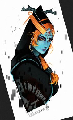 Midna Hyrule Warriors by TholiaArt