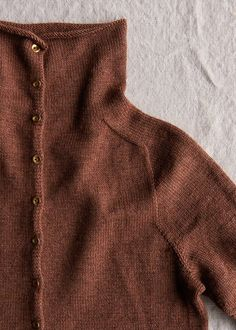 Top-Down Turtleneck Cardigan, Now in Baby Fawn | Purl Soho