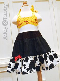 Jessie Cowgirl toy story boutique dress, halloween costume. $68.00, via Etsy.