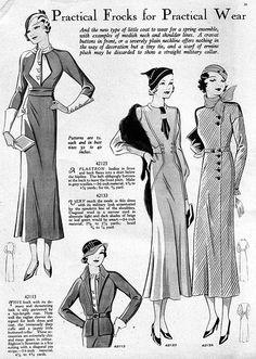 Practical frocks for practical wear (April 1933).