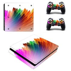 Brilliant Color Series Vinyl Protective Skin Sticker For Playstation 4 Decal Cover Sticker For PS4 Gaming Console +2 Controller