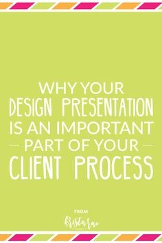 The design presentation is one of the most undervalued parts of design projects. I'm going over why it's so important, what not to do & what to try instead. via @kristaraeblog