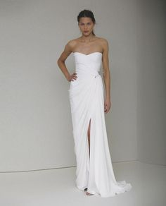 "Monique lhuillier Demi - ""wouldn't you wanna walk down the beach to marry me again wearing this?"" BWB"