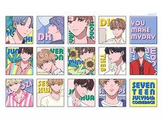 Listen to every Seventeen track @ Iomoio Woozi, Jeonghan, Wonwoo, Printable Stickers, Cute Stickers, Seventeen Wallpapers, Kpop Fanart, Aesthetic Stickers, K Pop