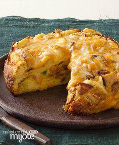Strata au fromage et au bacon à la mijoteuse #recette