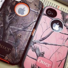 his & her, camo otterboxes for iphone. Me & my babe have the exact ones for our Samsung :D