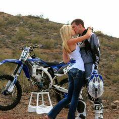 dirtbike engagement photo