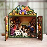 Peruvian Christmas Retablos: Add an international flair to your holiday decor with one of these colorful nativity scenes from Peru.